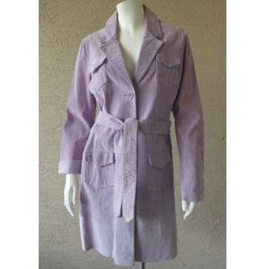 Lavender Purple Suede Trench